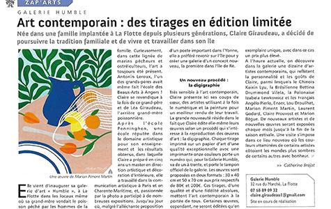 Art contemporain : des tirages en édition limitée